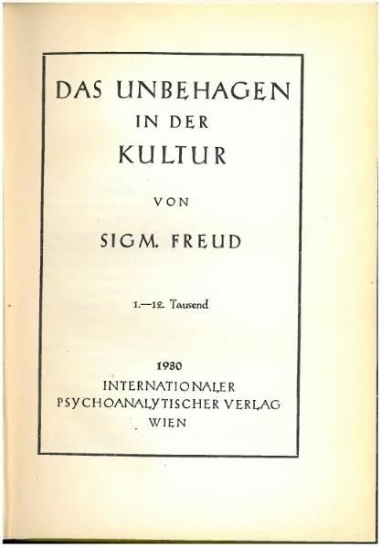 Freud civilization and its discontents essay